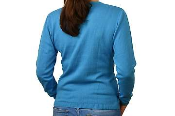 Woman sweater Volga V neck (100% org. cotton)