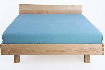 Fitted sheet pure washed linen