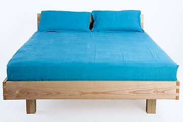 Solid wood bed Vosges, metal-free, natural oil finish