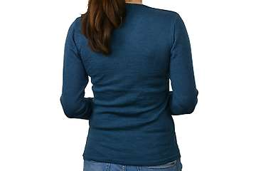 Woman sweater Belukha V neck (100% merino)