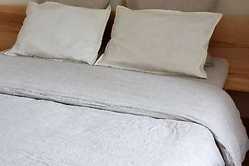 Duvet cover pure washed linen