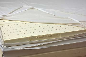Latex mattress topper 6cm - 100% natural latex - 5-zones